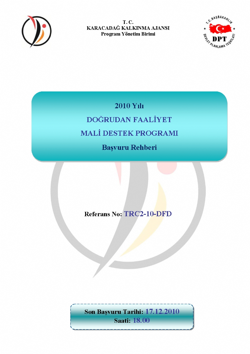 2010 Yılı Doğrudan Faaliyet Mali Destek Programı