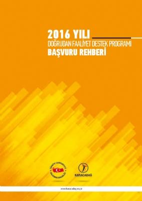 2016 Yılı Doğrudan Faaliyet Destek Programı