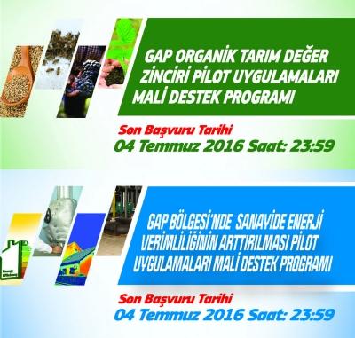 2016 Yılı Organik Tarım ve Sanayide Enerji Verimliği Programı