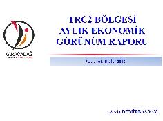 (Sayı 101 ) 2019 Ekim Ayı Ekonomik Görünüm Raporu