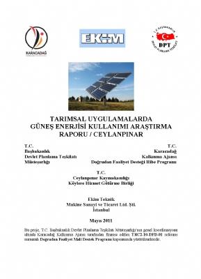 Tarımsal Üretimde Güneş Enerjisi Kullanımı