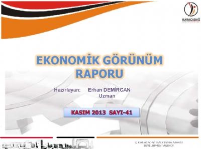 (Sayı 41) 2013 Kasım Ayı Aylık Ekonomik Görünüm Raporu