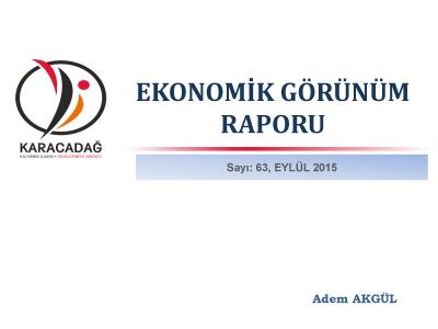 (Sayı 63 ) 2015 Eylül Ayı Aylık Ekonomik Görünüm Raporu