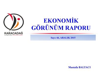 (Sayı 66 ) 2015 Aralık Ayı Aylık Ekonomik Görünüm Raporu