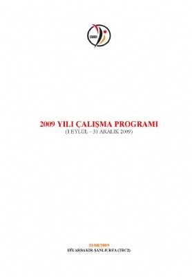 2009 Yılı Çalışma Programı