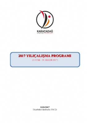 2017 Yılı Çalışma Programı