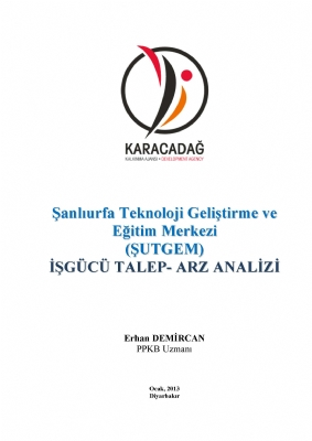 ŞUTGEM İşgücü Talep-Arz Analizi Raporu