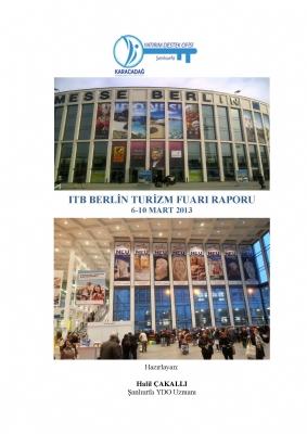 2013 ITB Berlin Turizm Borsası Raporu