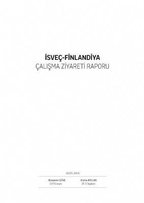 İsveç-Finlandiya Çalışma Ziyareti Raporu