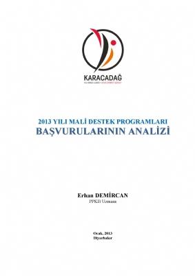 2013 Yılı MDP Analizi