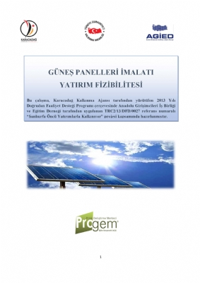 Güneş Panelleri İmalatı Yatırım Fizibilitesi