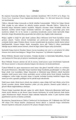 Bulgur Pazar Araştırması ( Karacadağ Ka 2011)