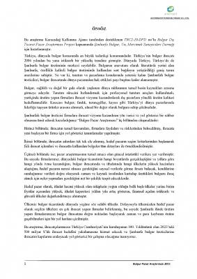 Bulgur Dış Ticaret Pazar Araştırması