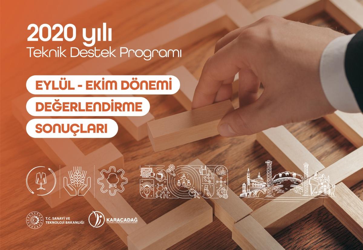 2020 Yılı Teknik Destek Programı Eylül-Ekim Dönemi Değerlendirme Sonuçları