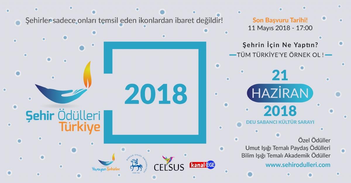 Şehirlerin Beklediği Ödüllendirme Başlıyor, Şehir Ödülleri Türkiye 2018 Aday Çağrısı Yapıldı!