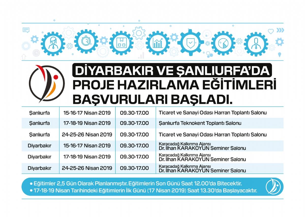 Diyarbakır ve Şanlıurfa'da Proje Hazırlama Eğitimleri Başvuruları Başladı
