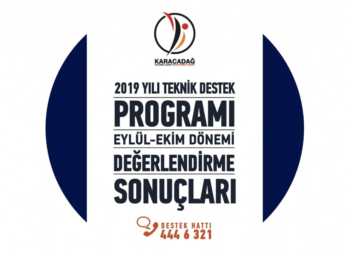 2019 Yılı Teknik Destek Programı Eylül - Ekim Dönemi Değerlendirme Sonuçları Açıklandı