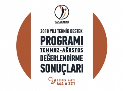 2018 Yılı Teknik Destek Programı Temmuz-ağustos Dönemi Sonuçları Açıklandı