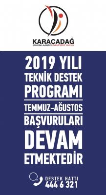 2019 Yılı Teknik Destek Programı Temmuz-ağustos Dönemi Başvuruları Başladı