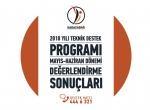 2018 Yılı Teknik Destek Programı Mayıs-haziran Dönemi Sonuçları Açıklandı