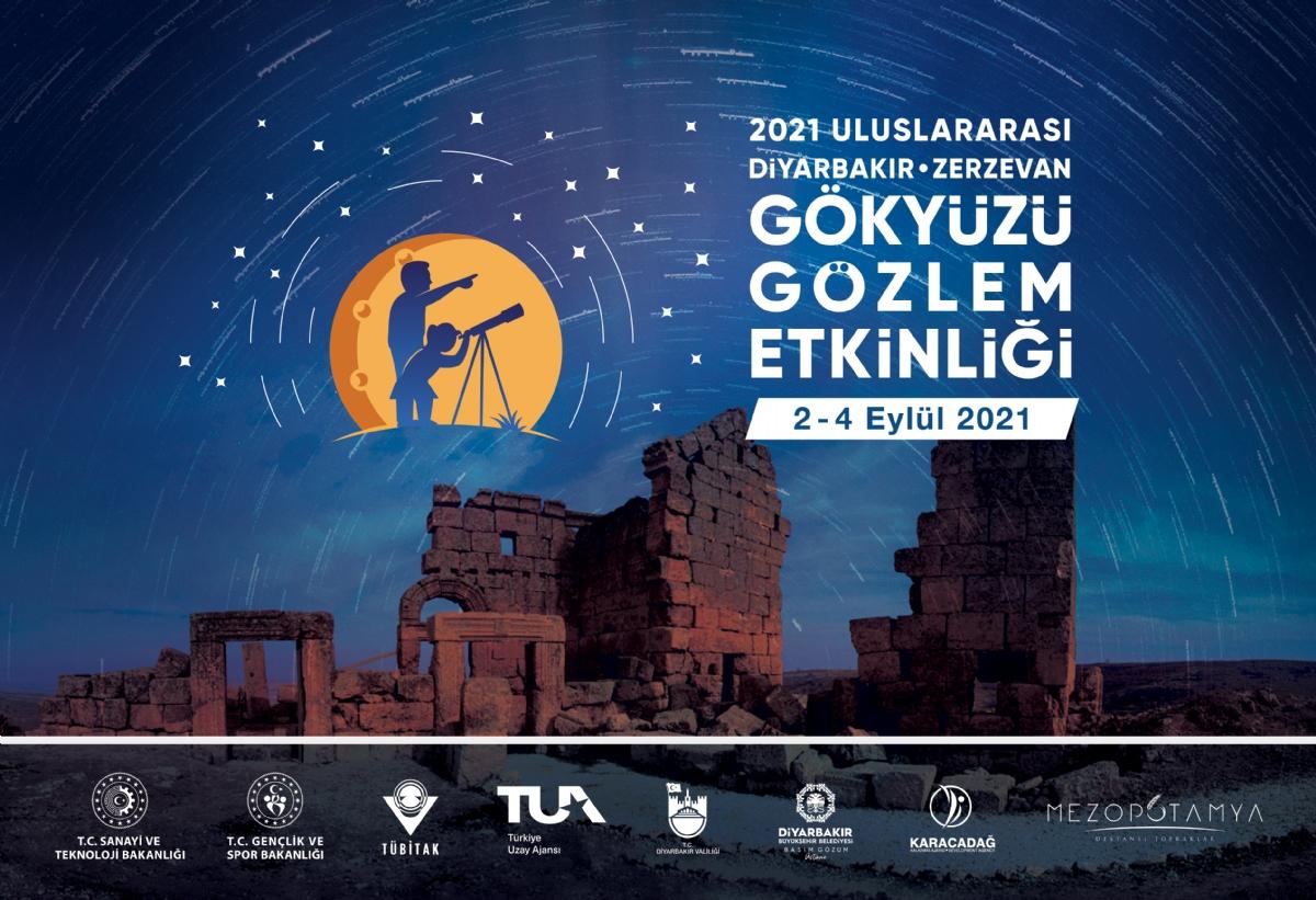 2021 Uluslararası Zerzevan Gökyüzü Gözlem Etkinliği Diyarbakır'da Yapılacak