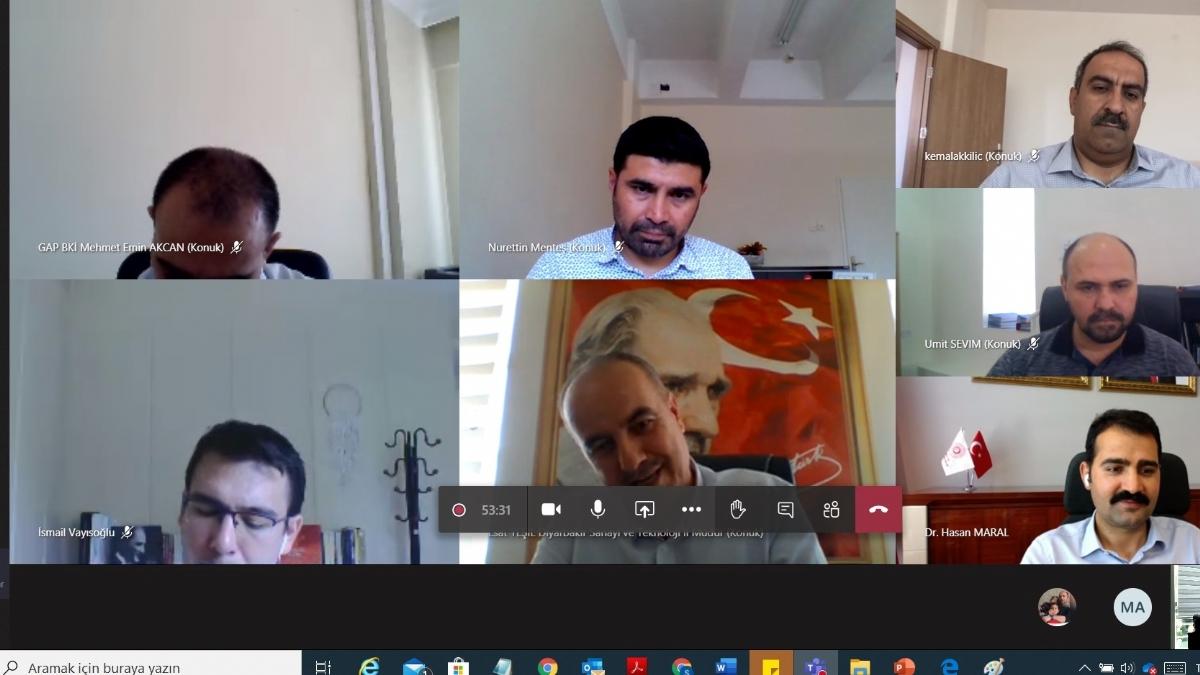 Diyarbakır Sanayi Kuruluşları Covıd-19'e Karşı İş Birliği Gündemiyle Toplandı