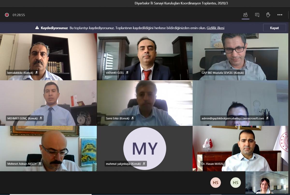 Diyarbakır Sanayi Kuruluşları Koordinasyon Toplantısı Gerçekleştirildi
