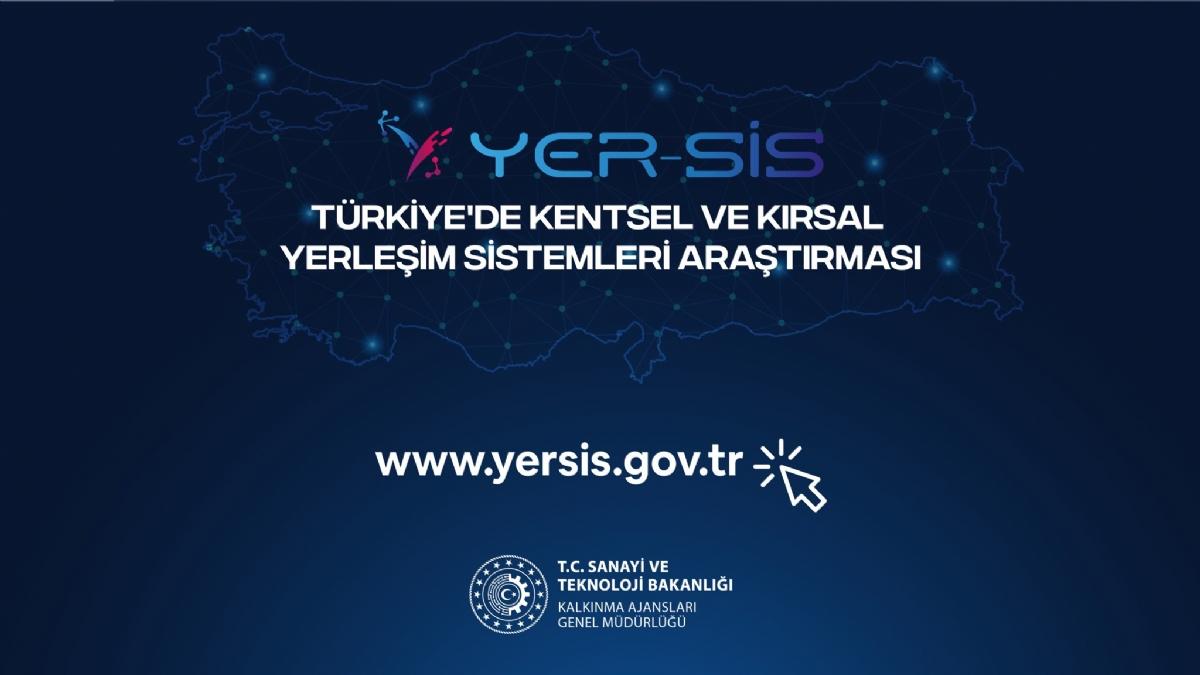 Türkiye'de Kentsel ve Kırsal Yerleşim Sistemleri Araştırması ( YER-SİS) Tamamlandı