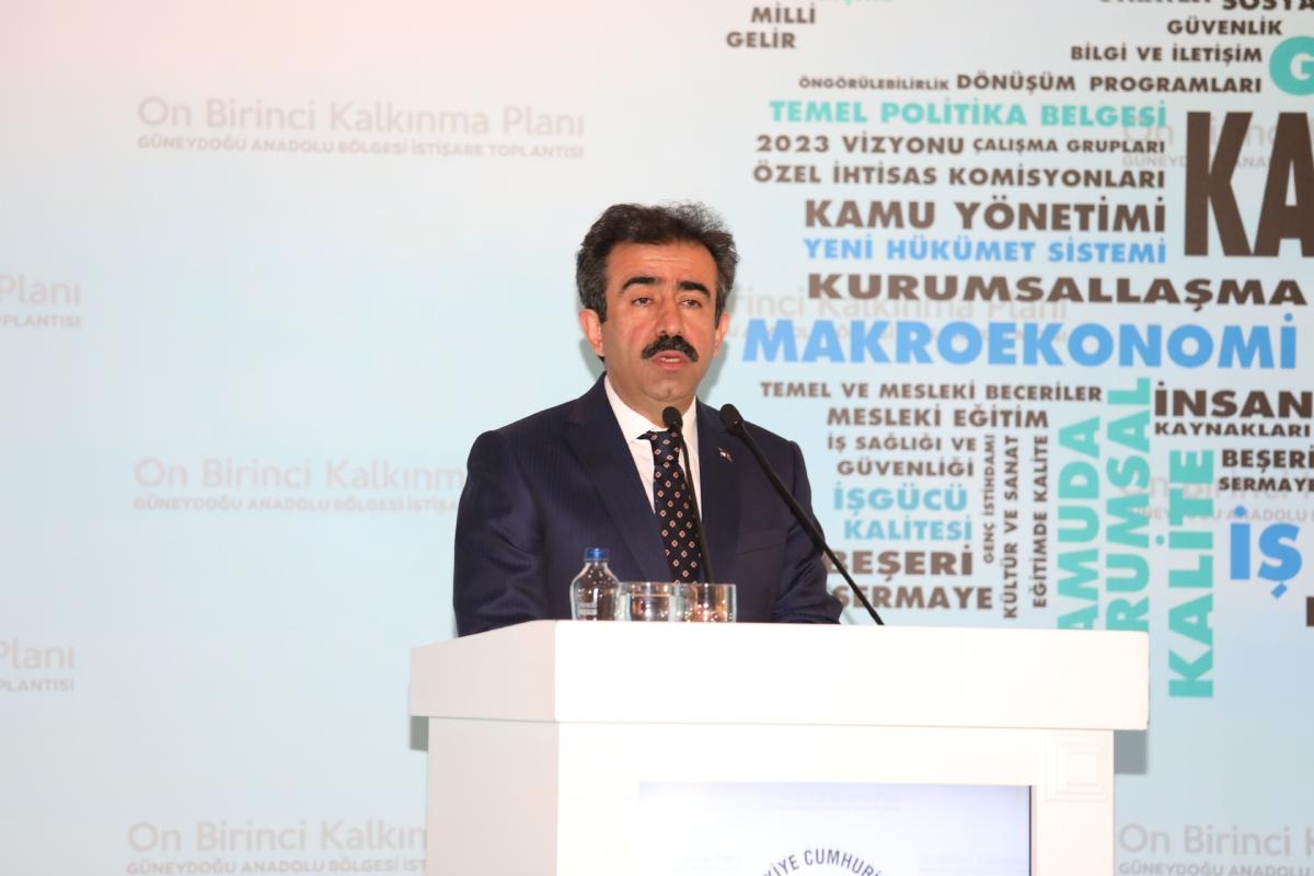 On Birinci Kalkınma Planı İstişare Toplantısı Diyarbakır'da Düzenlendi