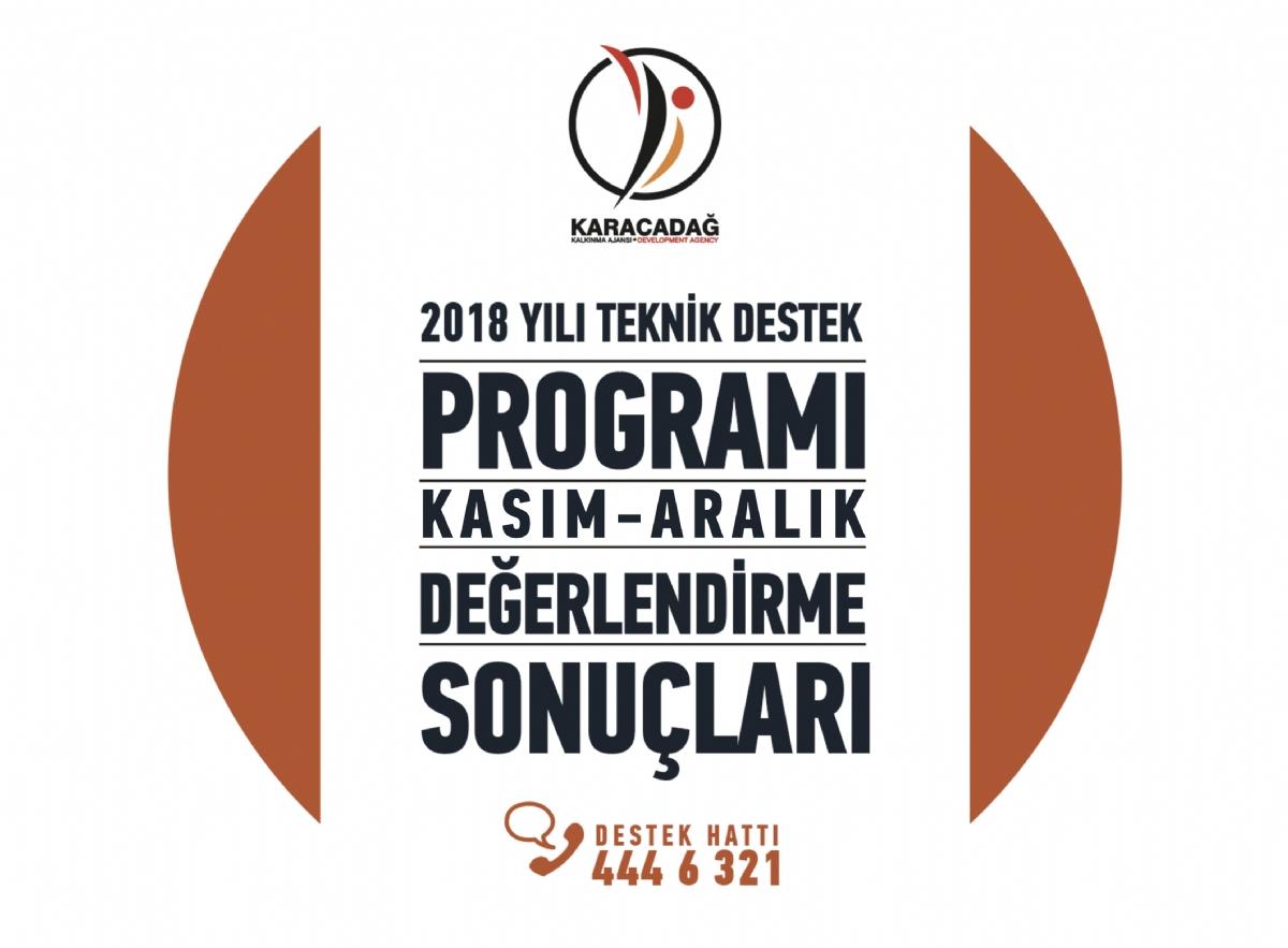 2018 Yılı Teknik Destek Programı Kasım-Aralık Dönemi Sonuçları Açıklandı