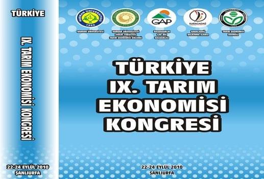 Türkiye Ix. Tarım Ekonomisi Kongresi Şanlıurfa'da Düzenleniyor!