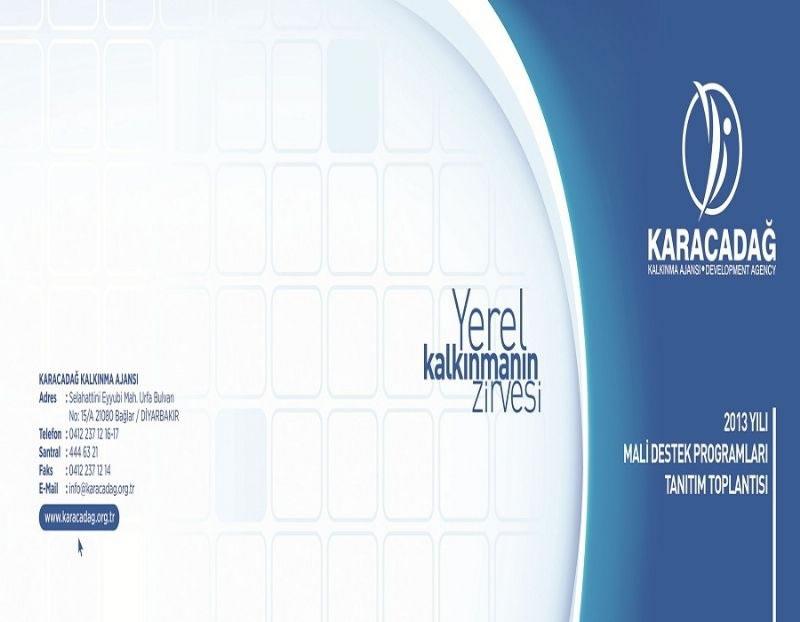 Karacadağ Kalkınma Ajansı 2013 Mali Destek Programlarını Açıklıyor!