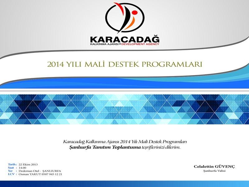 Ajansımız 2014 Yılı Mali Destek Programlarını Açıklıyor!