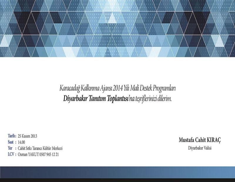 2014 Yılı Hibe Programları Diyarbakır Tanıtım Toplantısı