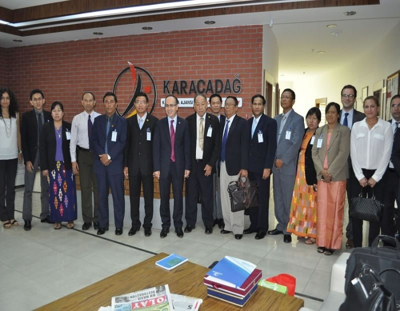 Myanmar Heyeti Ajansımızı Ziyaret Etti