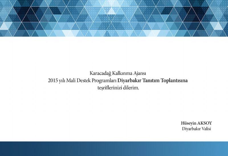 Ajansımız 2015 Yılı Mali Destek Programlarını Diyarbakır'da Tanıtacak!