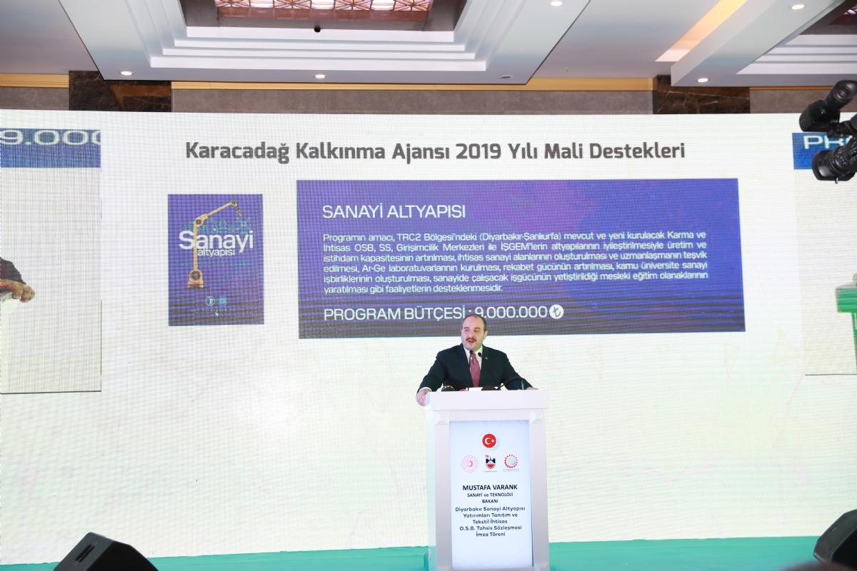 Bakan Mustafa Varank: Tekstil İhtisas OSB, Diyarbakır'ın Gücüne Güç Katacak