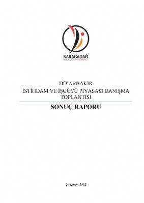 Diyarbakır İstihdam ve İşgücü Piyasası Danışma Toplantısı ( 2014 - 2023)